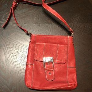 Nine West Bags - Red Leather Nine West Messenger Bag